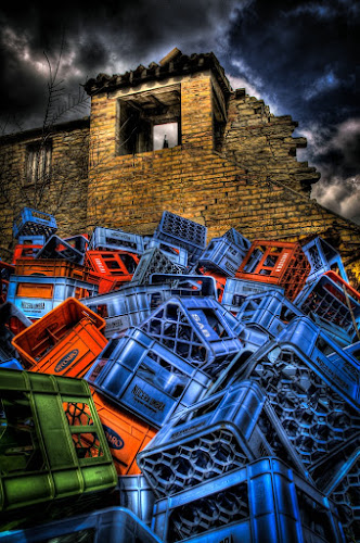 crates... by Frans Scherpenisse - Artistic Objects Other Objects ( red, hdr, blue, crates )