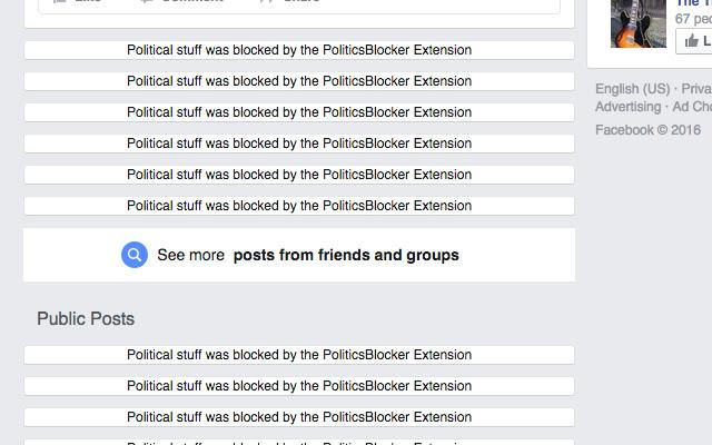 Politics Blocker for Facebook