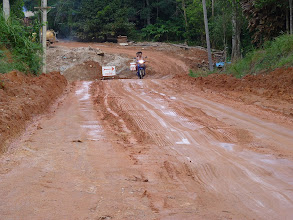 Photo: Ko Phangan motobiking around - horrible muddy road to Sadet waterfalls/beach or to Thong Nai Pan beacheas or to north to Bottle beach