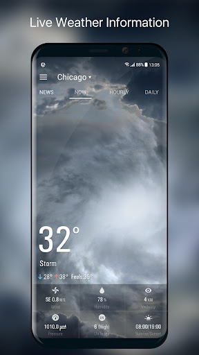 Weather Forecast Widget with Battery and Clock  screenshots 4