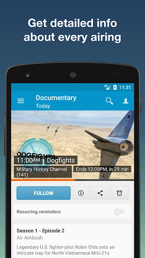 TV Listings for Android screenshot