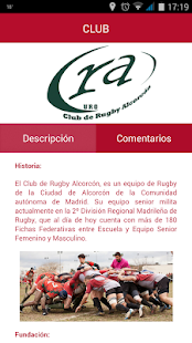 Rugby Alcorcón- screenshot thumbnail