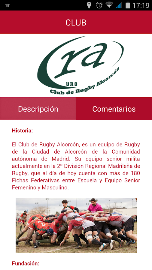 Rugby Alcorcón- screenshot