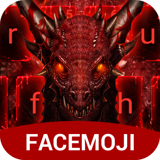 Red Dragon & Blood Drop Keyboard Theme for PC