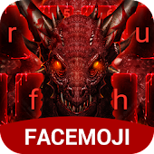 Red Light Dragon & Blood Drop Keyboard Theme