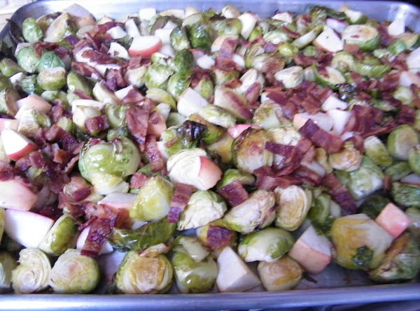 Remove sheet from oven and toss in apple.  Return to oven; roast until...