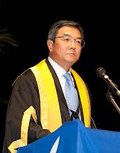 Photo: December 2012. IMO Secretary-General and WMU Chancellor, Koji Sekimizu, addresses the graduates.