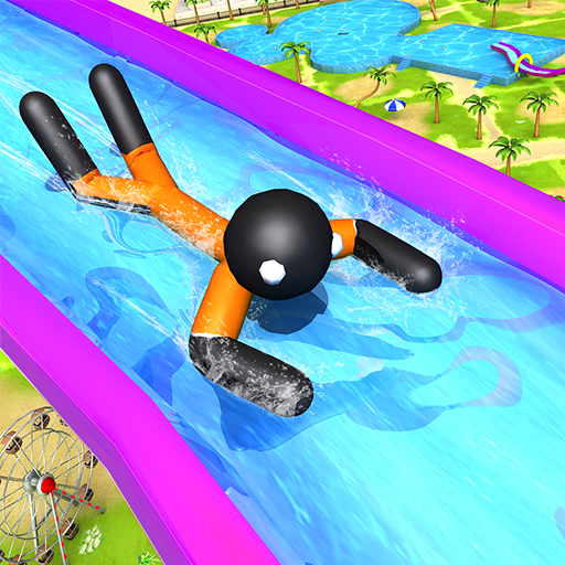Water Slide Stickman Fun Park
