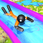 Water Slide Stickman Fun Park