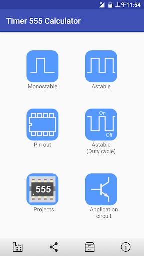 Timer IC 555 Calculator 3.1.5 screenshots 1