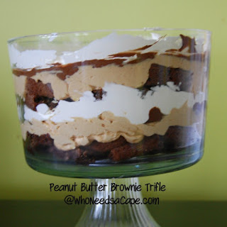 Peanut Butter Brownie Triffle.