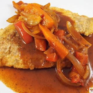 Gyspy Chicken Schnitzel.