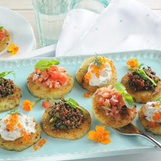 Gemüse-Kartoffel-Crosstini