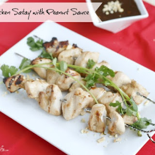 Healthy Chicken Satay With Peanut Sauce