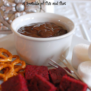 Raspberry Chocolate Fondue