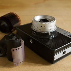 photo by Stanislav Tcolov - Artistic Objects Other Objects ( photographic, old, obsolete, camera, dressed, retro, tape, history, photocamera, images, men, black, classic,  )