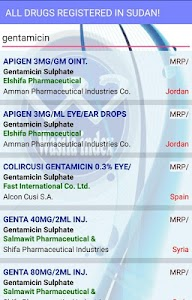 Sudan Drug Index screenshot 5