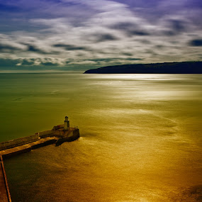 Laxey Bay by CLINT HUDSON - Landscapes Travel ( isle of man, seascape, laxey )