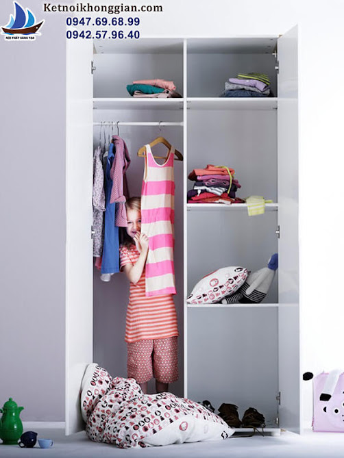 tủ đồ cho bé liền mạch