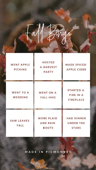 Fall Bingo - Facebook Story Template