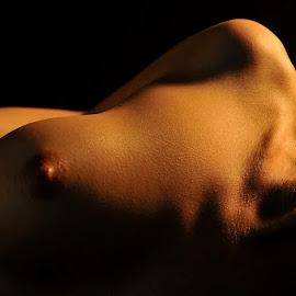 Experiment in low light by Eric Black - Nudes & Boudoir Artistic Nude ( #firelight, #romantic, #nude, #woman, #ericblack, #love, #closeup )