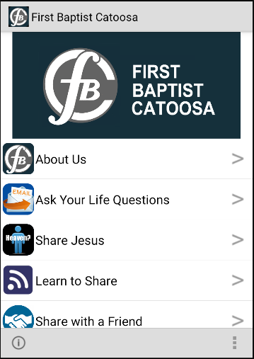 First Baptist Catoosa- screenshot