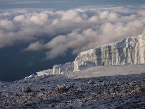 Photo: Jégár a csúcs közelében