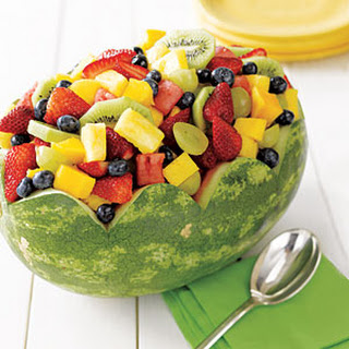 Fresh Fruit in Watermelon Bowl