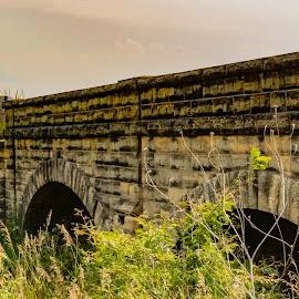 Two teir bridge  by Jeff Brown - Buildings & Architecture Bridges & Suspended Structures ( bridge, stone )