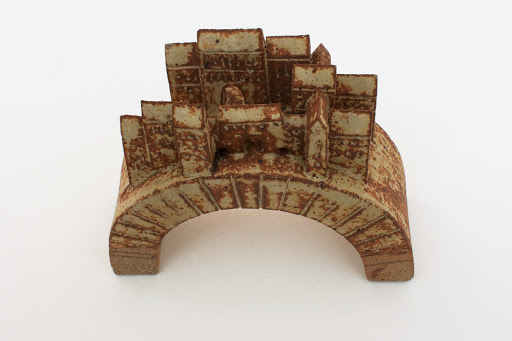 Bryan Newman Small Ceramic Bridge Sculpture 09