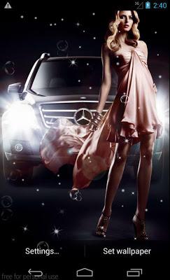 Model Car LiveWallpaper - screenshot