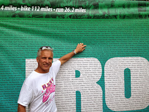 Photo: Found my name on the Ironman banner.