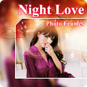 Beautiful Night Love Photo Frames Greeting Cards