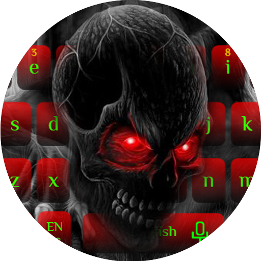 Green Skull Keyboard