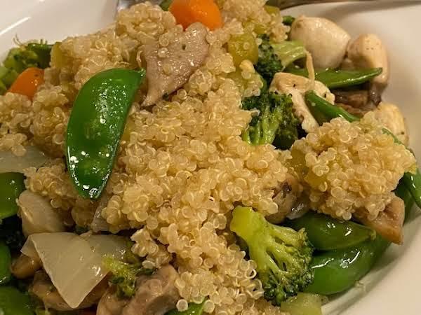 Chicken Skillet Veggies With Quinoa