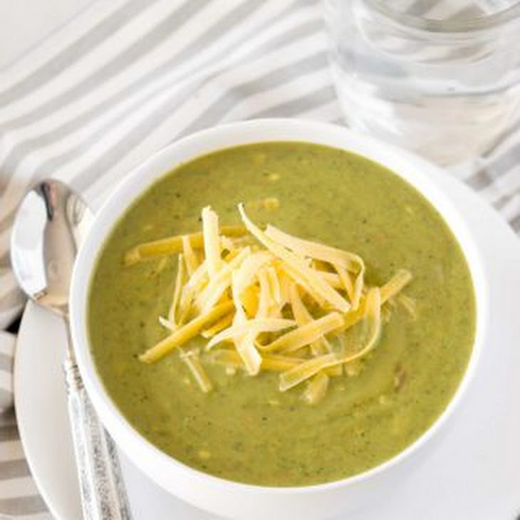 Low Carb Slow Cooker Broccoli Cheese Soup