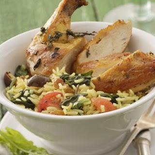 Roast Chicken with Veggie Rice Bowl