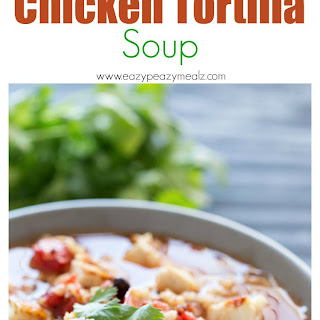Brown Rice and Quinoa Chicken Tortilla Soup