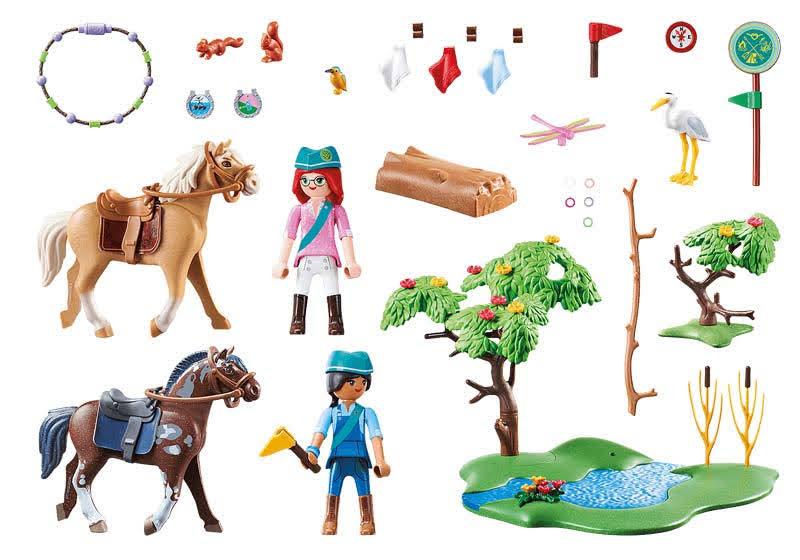 Contenido real de Playmobil® 70330 Desafío en el Rio