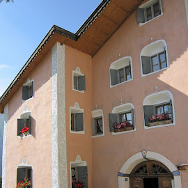Unterengandin, Guarda, Graubünden, Switzerland by Serguei Ouklonski - City,  Street & Park  Historic Districts ( street, europe, building, structure, architecture )