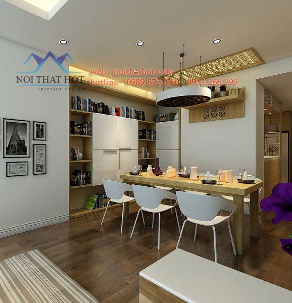 thiết kế chung cư có phòng ăn đẹp
