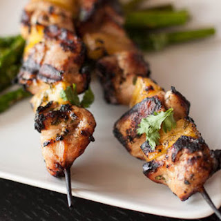 Grilled Chicken and Pineapple Skewers with Cilantro