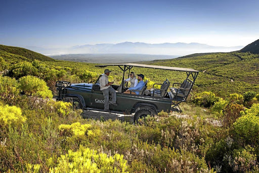 Vistas: A 4x4 fynbos jaunt across the Grootbos Private Nature Reserve runs along a track with uninterrupted views of Walker Bay and Cape Agulhas. The reserve is home to 1,106 plant species, with six newly discovered ones. Picture: SUPPLIED