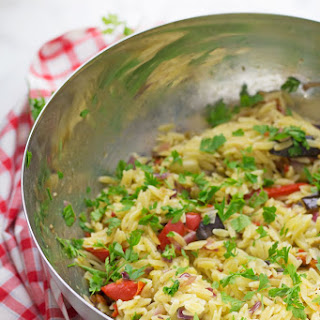 Summer Orzo Salad with Roasted Vegetables Recipe