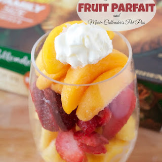 Freezer to Table Fruit Parfait and Marie Callender's Pot Pie