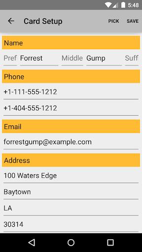Business Card App screenshot 3