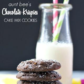 Aunt Bee's Chocolate Krispies Cake Mix Cookies