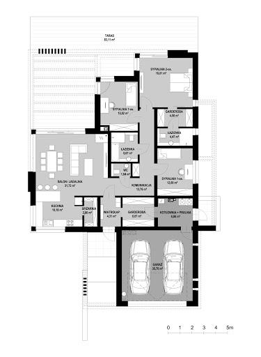 New House 8 - Rzut parteru