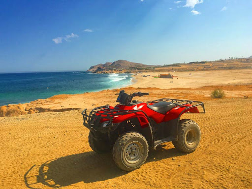 In Cabo, the ATVs are allowed to be on the sandy beach, tho a few got stuck.