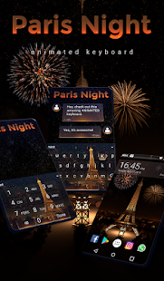 Paris Night Animated Keyboard + Live Wallpaper for PC-Windows 7,8,10 and Mac apk screenshot 1